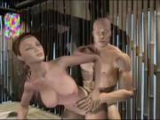 Horny lovers plug in doggy in bungalow